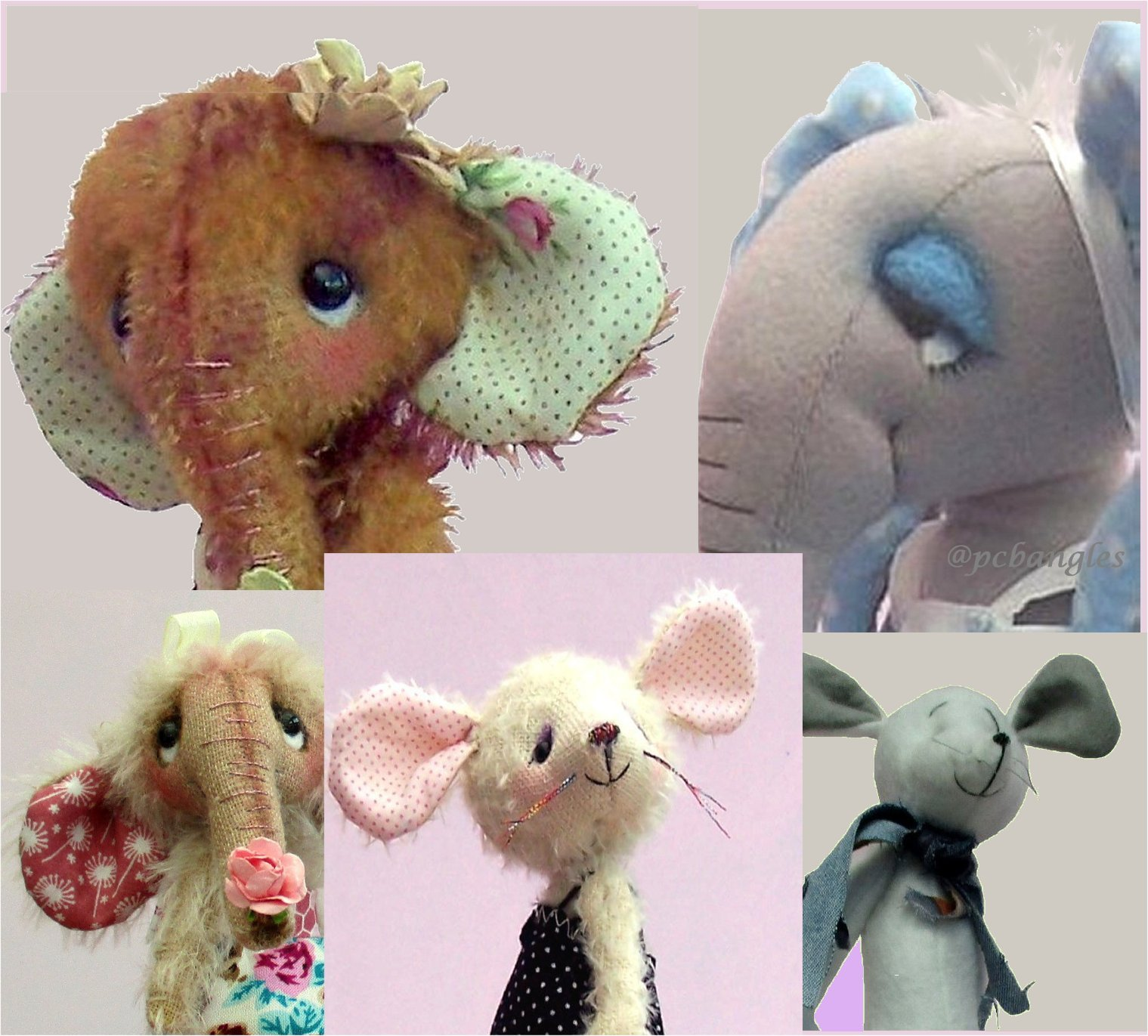 elephant and mice digital sewing patterns PDF