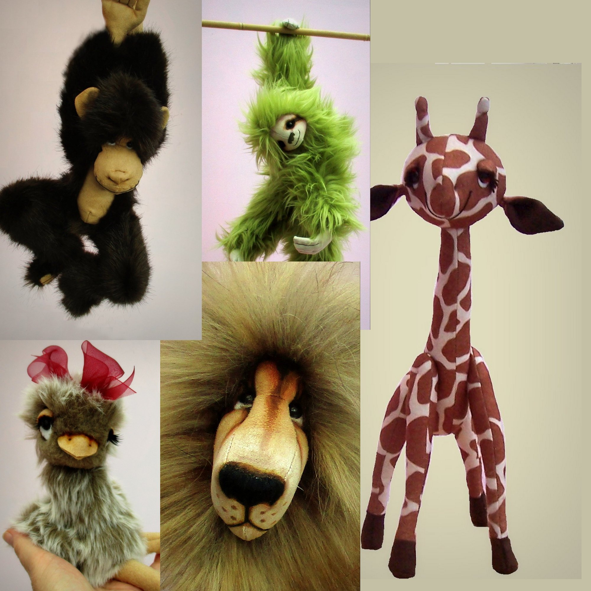Digital wild animal soft toy sewing patterns  PDF